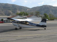 N519AC @ SZP - 2000 American Champion 7GCBC EXPLORER, Lycoming O-320 150 Hp, holding short 22 - by Doug Robertson