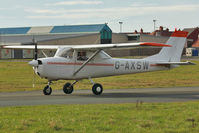 G-AXSW @ EGNH - 1969 Reims FA150K, c/n: 0003 at Blackpool