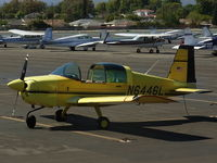 N6446L @ KEMT - El Monte Airport, transient parking. A view from the cafe. - by COOL LAST SAMURAI