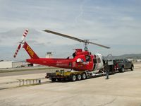 N214KK @ SEE - Working on the ship while tied down on it's trailer\helipad - by Helicopterfriend
