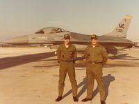 79-0300 @ KMCF - My first assignment as crew chief, 79-0300. Myself, SrA Martin McGuire (left) and my assistant crew chief SrA Joe Gates (right).  This photo was taken in November/December 1980 in honor of being awarded the 56th Tac Trng Wing 5 Star Award for Exceptional  - by Ironramper