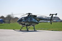 G-HUKA @ EGTB - Hughes 369E at Wycombe Air Park - by moxy