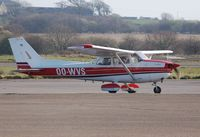 OO-WVS @ EGFH - Visiting Skyhawk 11 departing Swansea Airport on a round Britain flight. - by Roger Winser