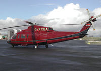 G-XXEA @ CAX - Sikorsky S-76C on Royal flight duty at Carlisle Airport in April 2004. - by Peter Nicholson