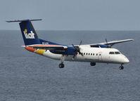 V2-LFV @ SLU - Landing on the airstrip of st Lucia - by Willem Göebel
