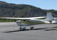 N7097M @ SZP - 1958 Cessna 175 SKYLARK, Continental GO-300-E 175 Hp geared engine crankshaft speed 3,200 rpm at 1.33/1 reduction gives 2,400 rpm cruise. Note deeper cowl - by Doug Robertson