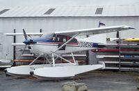 N8045Q @ S60 - Cessna A185F Skywagon on floats at Kenmore Air Harbor, Kenmore WA
