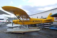 N390CC @ S60 - Piper/Cub Crafters PA-18-150 Top Cub on floats at Kenmore Air Harbor, Kenmore WA