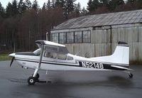 N52148 @ 0S9 - Cessna 180J Skywagon at Jefferson County Intl Airport, Port Townsend WA