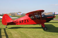 G-APZX @ EGBR - Piper PA-22-150 Caribean, Breighton Airfield's 2012 April Fools Fly-In. - by Malcolm Clarke