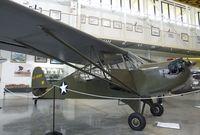 N48145 @ 0S9 - Aeronca O-58B Grasshopper at the Port Townsend Aero Museum, Port Townsend WA
