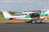 N4271L @ ZPH - 1966 Cessna 172G, c/n: 17254340 in the refuelling line at Zephyrhills FL