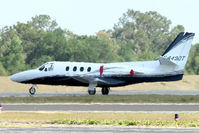 N449DT @ ZPH - Parked remotely in the centre of Zephyrhills airfield, 1977 Cessna 501, c/n: 501-0012 sits shimmering in the heathaze