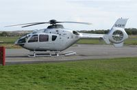 G-CEYF @ EGFH - Visiting helicopter operated by Starspeed Ltd. - by Roger Winser