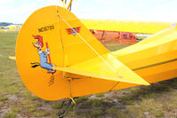 N15733 @ LAL - Tail art on 1936 Aeronca C-3, c/n: A-633 at 2012 Sun N Fun