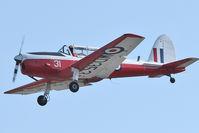 N3034F @ LAL - Dehavilland DHC-1 T.MK. 10, c/n: C1-0291 departing 2012 Sun N Fun