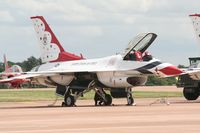 87-0325 @ FFD - Thunderbirds on the flight line at Royal International Air Tattoo 2007 - by Steve Staunton