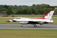 87-0329 @ FFD - Thunderbirds practice at Royal International Air Tattoo 2007 - by Steve Staunton
