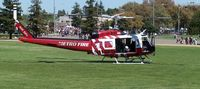 N114FD - At Picnic Day, UC Davis, after horse lift demonstration. - by Reed Maxson
