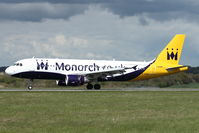 G-OZBK @ EGGW - 2000 Airbus A320-214, c/n: 1370 in revised Monarch colours - by Terry Fletcher