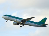 EI-CVD @ EGPH - Aer lingus A320 Departs runway 24 bound for Dublin - by Mike stanners