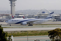 4X-ECB @ KLAX - Taxiing to gate at LAX - by Todd Royer