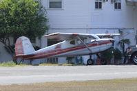N140A @ ZPH - 1951 Cessna 140A, c/n: 15701 - through the heat haze at Zephyrhills FL