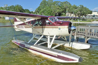 N31357 - Operated by Lake Country Air Service - based in Duluth in the summer - in Winter aircraft moves to warmer locations to offer sightseeing opportunities - photo at dock on Lake Dora , Florida