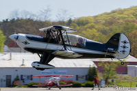 N129D @ 7B9 - Short final to Ellington, CT - by Dave G