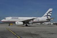 SX-DGH @ LOWW - Aegean Airbus 319 - by Dietmar Schreiber - VAP