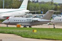 A6-KBB @ EGGW - 1999 Bombardier CL-600-2B16, c/n: 5418 at Luton - by Terry Fletcher