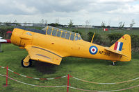 KF388 @ EGHH - Reconstruction of the Bournemouth Aviation Museum's Harvard commenced in 2000, being built up from a collection of parts from various sources. The rear fuselage is ex-RAF, the fin ex-Royal Navy, another part was marked as a US Navy SNJ and the wings are e