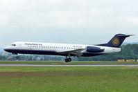 9A-BTD @ LOWL - SunAdria (Trade Air) Fokker 100 F-28-0100 landing in LOWL/LNZ - by Janos Palvoelgyi