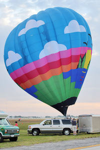 N500SM @ LAL - The wind was too strong to allow the full inflation and mass take-off of the balloons at 2012 Sun n Fun