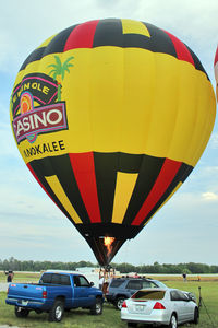 N2241Z @ LAL - The wind was too strong to allow the full inflation and mass take-off of the balloons at 2012 Sun n Fun