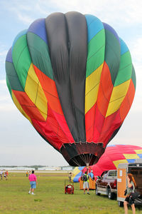 N3182P @ LAL - The wind was too strong to allow the full inflation and mass take-off of the balloons at 2012 Sun n Fun