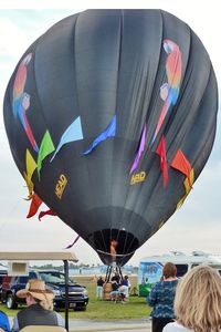 N2091T @ LAL - The wind was too strong to allow the full inflation and mass take-off of the balloons at 2012 Sun n Fun
