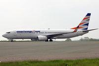OK-TVP @ EGGW - Smart Wings 2002 Boeing 737-8K5, c/n: 32907 on charter flight at luton