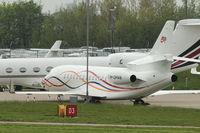 M-OMAN @ EGGW - 2011 Dassault Falcon 7X, c/n: 138 at Luton
