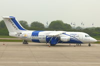 EI-RJX @ EGGW - Painted specially in Leinster Rugby colours - for transporting the Leinster team to London for the 2012 Heinekin Trophy Rugby Final