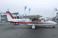 D-GIDK @ EDNY - Vulcanair P.68C Victor at the AERO 2012, Friedrichshafen - by Ingo Warnecke