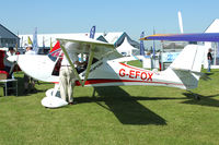 G-EFOX @ EGBK - Exhibited in the static display at 2012 AeroExpo at Sywell