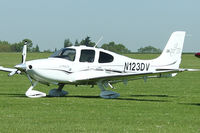 N123DV @ EGBK - A visitor to Sywell , on Day 1 of 2012 AeroExpo