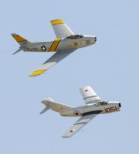 N87CN @ KCNO - F-86 and Mig 15 at Chino Airshow 2012