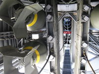 N224J @ CMA - 1944 Consolidated B-24J LIBERATOR 'Witchcraft', four turbocharged P&W R-1830-65 Twin Wasp 1,200 Hp each. Bomb Bay port side and catwalk looking forward - by Doug Robertson