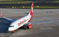 D-ABLA @ EDDL - early morning arrival at Düsseldorf