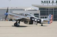 N98CF @ KIND - North American P-51K - by Mark Pasqualino