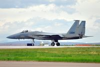 80-0004 @ GTF - 004 has just had it's 120th Fighter Wing, (Montana ANG), tail markings painted over.  All of these F-15C's and D's are scheduled to leave GTF in the summer of 2012. - by Jim Hellinger