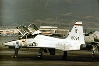 65-10394 @ ELP - T-38A Talon of the 12th Flying Training Wing at Randolph AFB seen staging through El Paso in October 1978. - by Peter Nicholson