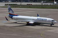 D-ASXG @ EDDL - SunExpress Germany, Boeing 737-8CX (WL), CN: 32366/1235 - by Air-Micha
